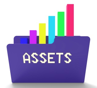 Assets File Indicates Capital Chart 3d Rendering